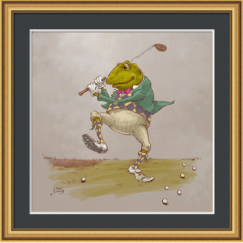 Mr Toad Golf Print - Ellerby England