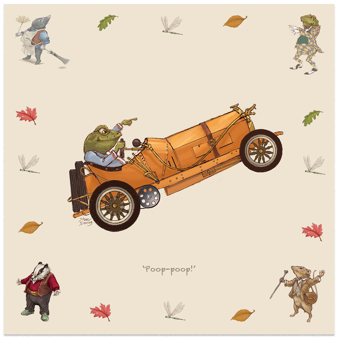 Toad Hall... 'Mr Toad' - Set of 8 Note Cards - Ellerby England