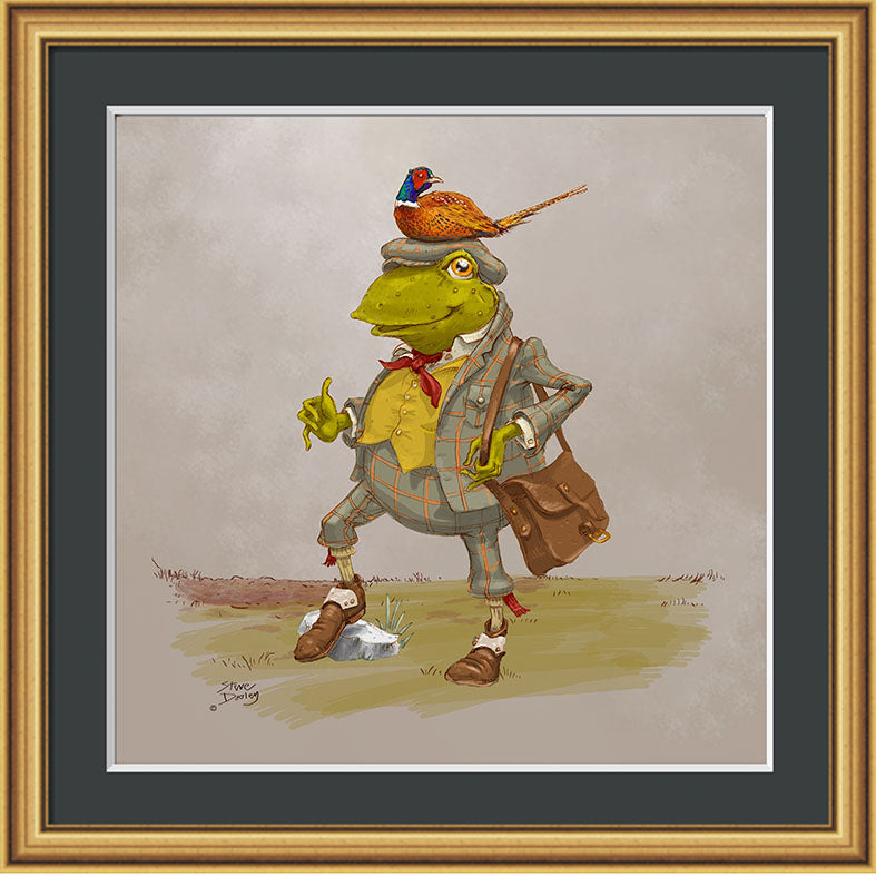 Mr Toad Shooting Print - Ellerby England