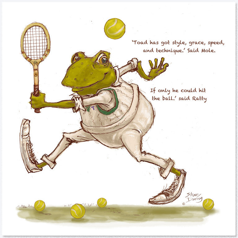 Toad Goes... 'Game-Set-Match' - Greetings Card - Ellerby England