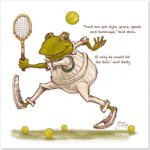 Greetings cards ellerby england mr toad tennis greetings card m4hsunfo Choice Image