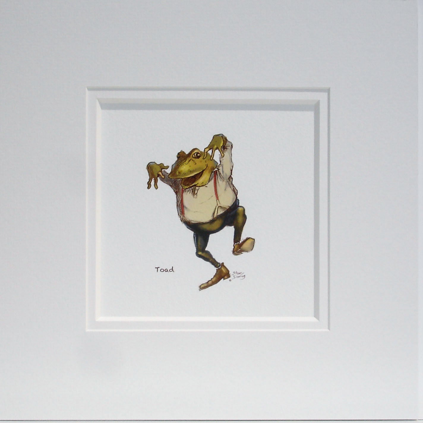 Mr Toad Dancing Nursery Print - Ellerby England