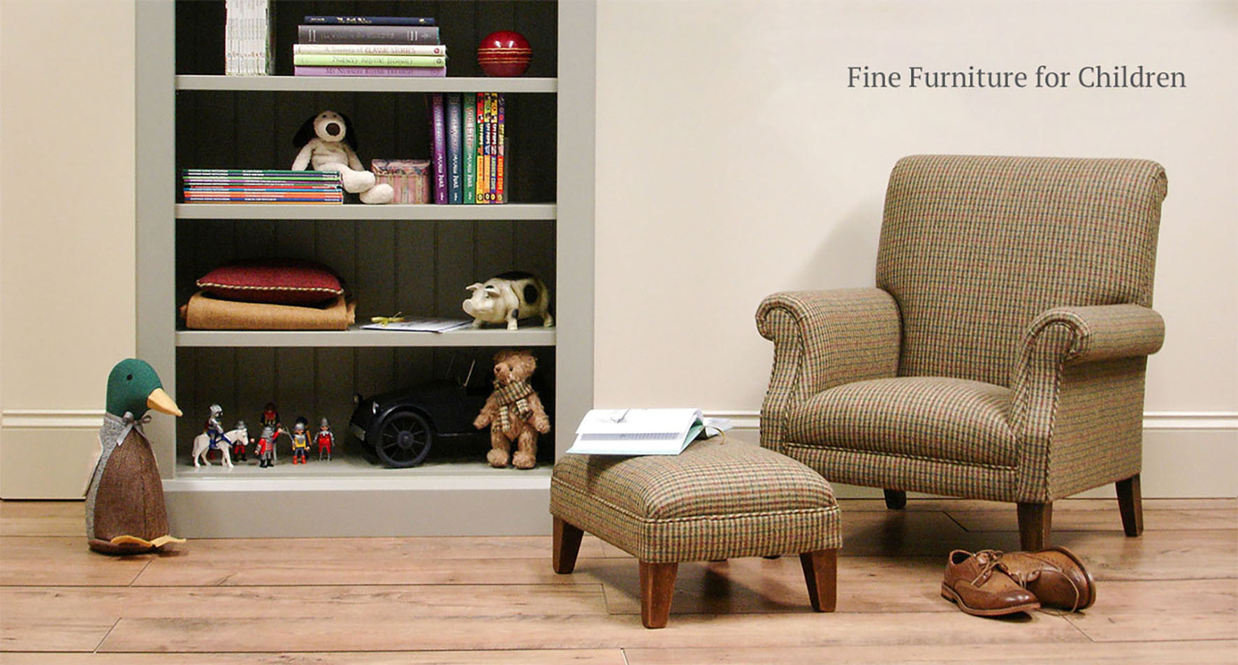 Children's Tweed Armchair