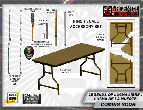 Legends of Lucha Libre - Premium Accessory Set - Lucha De La Muerte
