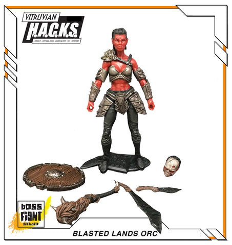 Vitruvian H.A.C.K.S. Female Blasted Lands Orc