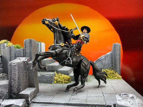 Hero H.A.C.K.S. Zorro & Tornado - Figure & Steed Pack