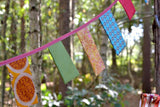 personalised boho square bunting
