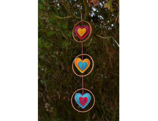 Personalised Initials New Home Heart Wall Hanging