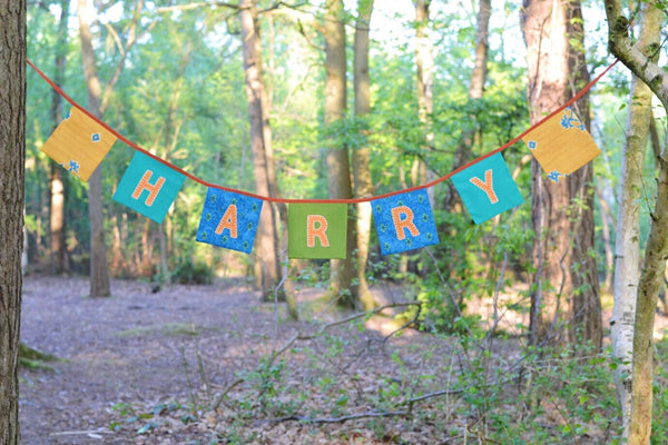 Personalised Name or Letter Square Bunting