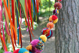Custom Pom Pom Wedding Garland