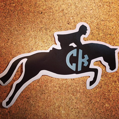 Hunter/Jumper Monogram Decal