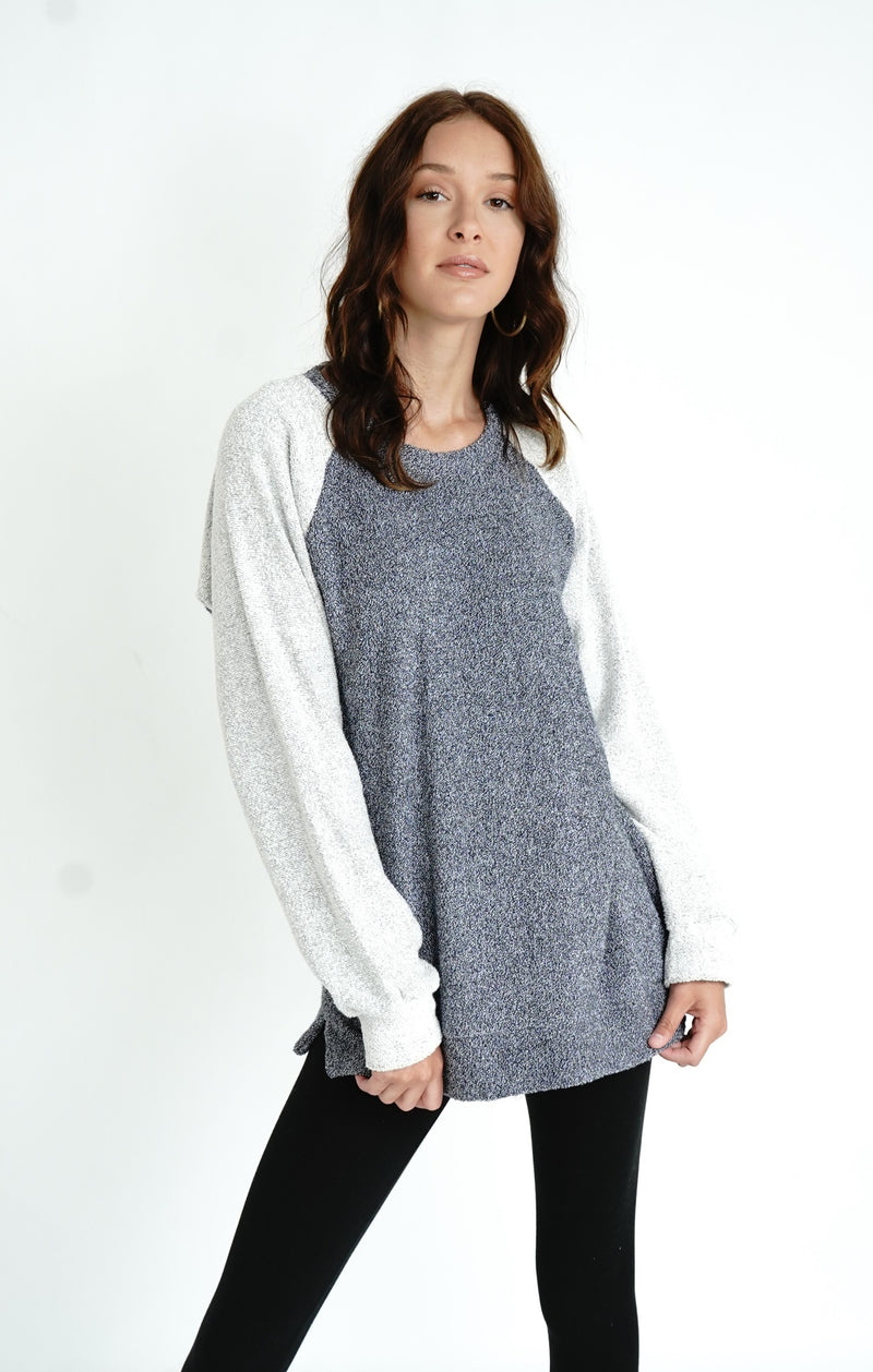 Two Tone Comfy Terry Sweatshirt