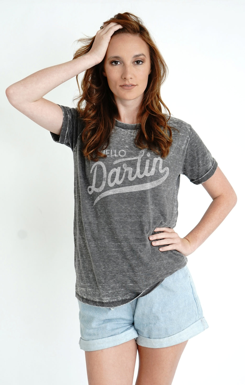 Hello Darlin' Vintage washed tee