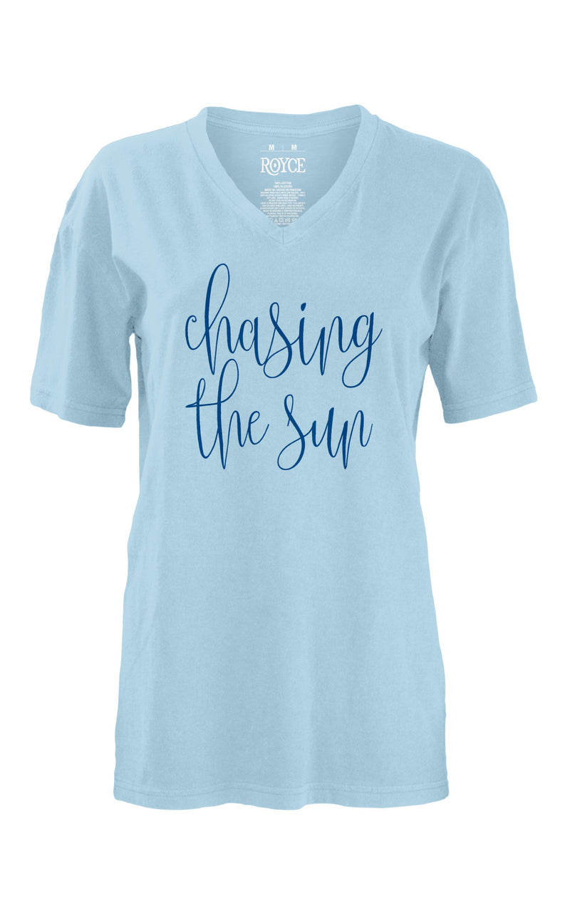 Chasing The Sun V Neck Tee