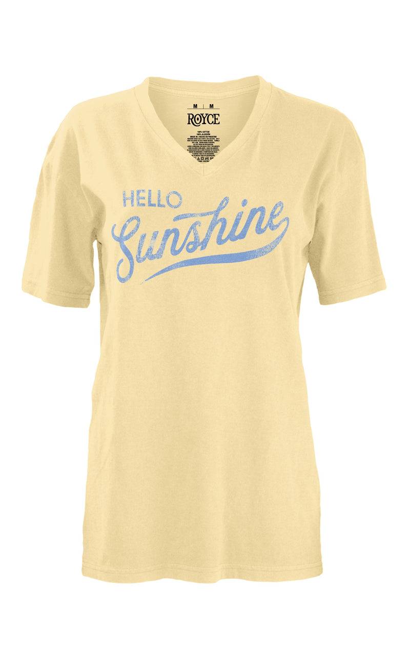 Hello Sunshine V Neck Tee