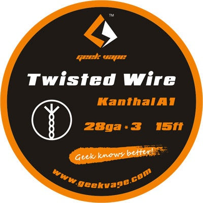 15ft GeekVape Twisted Atomizer DIY Kanthal Triple KA1 Tape Wire (28GA * 3)