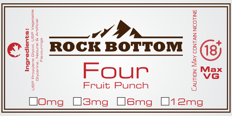 Rock Bottom eJuice - Four