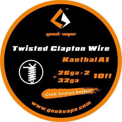 10ft GeekVape Twisted Clapton Atomizer DIY Kanthal KA1 Tape Wire (26GA * 2 + 32GA)