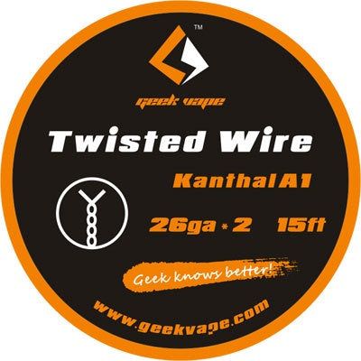 15ft GeekVape Twisted Atomizer DIY Kanthal Double KA1 Tape Wire (26GA * 2)