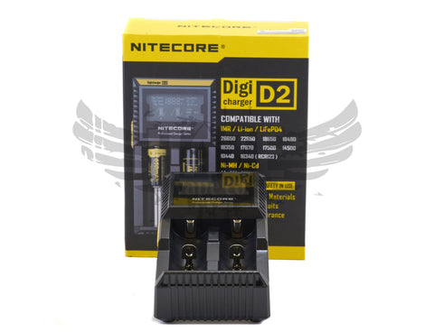 Nitecore Digicharger D2 Li-ion / NiMH / LiFePo4 battery charger
