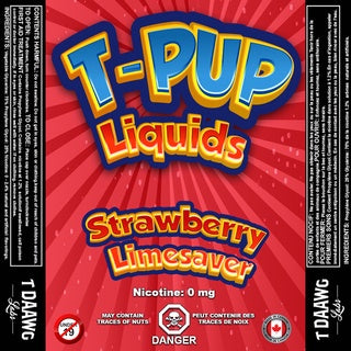 T Pup - Red (Strawberry Limesaver)