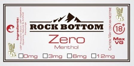 Rock Bottom eJuice - Zero