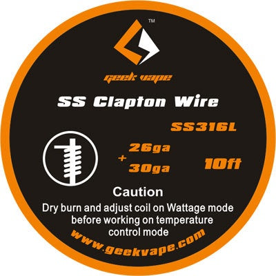 10ft GeekVape Clapton Atomizer DIY SS316L Clapton Tape Wire