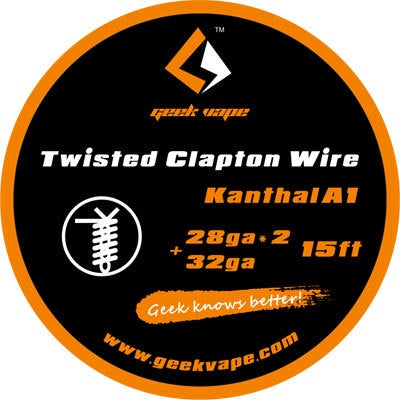 15ft GeekVape Twisted Clapton Kanthal KA1 Tape Wire (28GA x 2 + 32GA)
