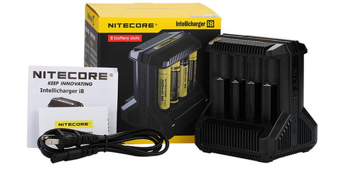NEW! Nitecore Intellicharger I8 Li-ion Battery 8-slot Charger