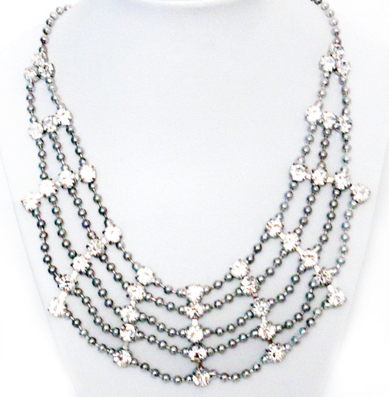 precious jewels all rhinestone necklace products collections accessories web dazzeled