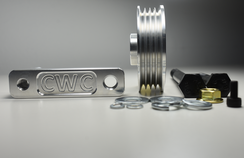 CWC LS1 Alternator Bracket ( ALL RB) - BLACK ONLY - Boost Factory