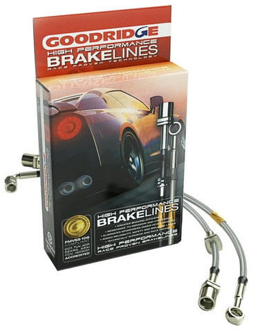 BRAIDED STAINLESS BRAKE LINES R32 R33 R34 ALL MODELS  GOODRIDGE (22160) - Boost Factory
