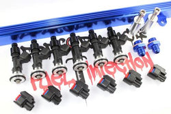 Performance Fuel Injection RB26DETT 1000cc Injector Kit Incl. Rail, pigtails - Boost Factory