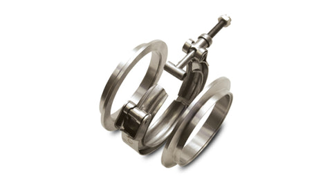 Vibrant Titanium V-Band Flange Assembly for 2.5in OD Tubing