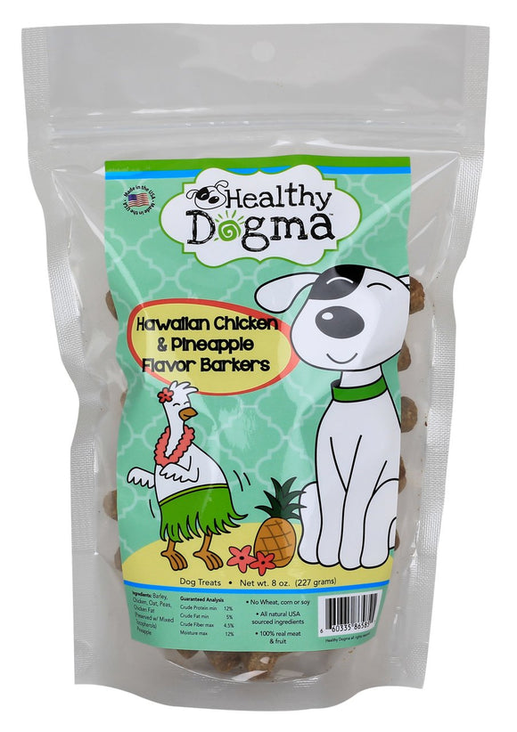 Healthy Dogma Hawaiian Chicken Barkers Natural Treats 16oz Value Pack