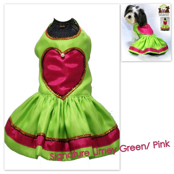 Signature Limey Pink Hearts Dress