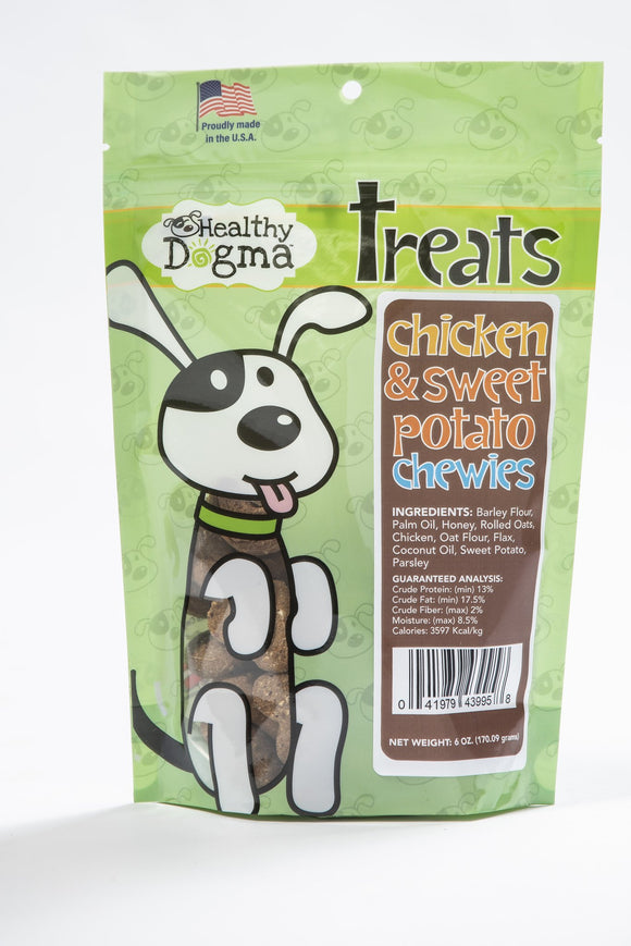 Healthy Dogma Chicken and Sweet Potato Chewies (soft treats)