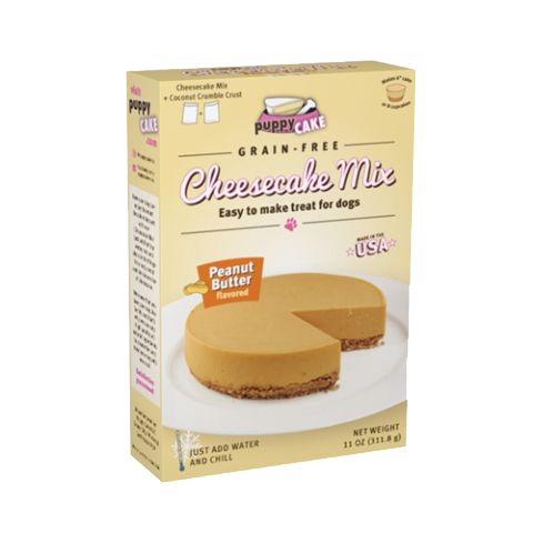 Grain-Free Peanut Butter Cheesecake Gourmet Mix for Dogs with Coconut Crumble Crust