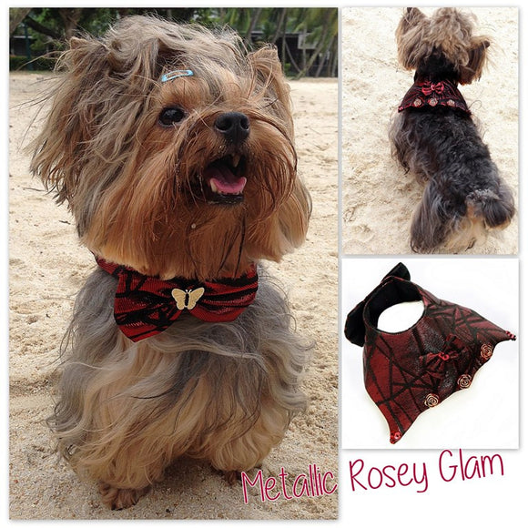 Metallic Rosie Glam Collar