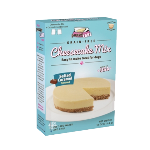Grain-Free Cheesecake Gourmet Mix for Dogs with Coconut Crumble Crust - Salted Caramel