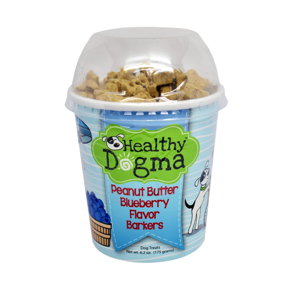 Healthy Dogma Peanut Butter Blueberry Barkers Natural Dog Treats Cup
