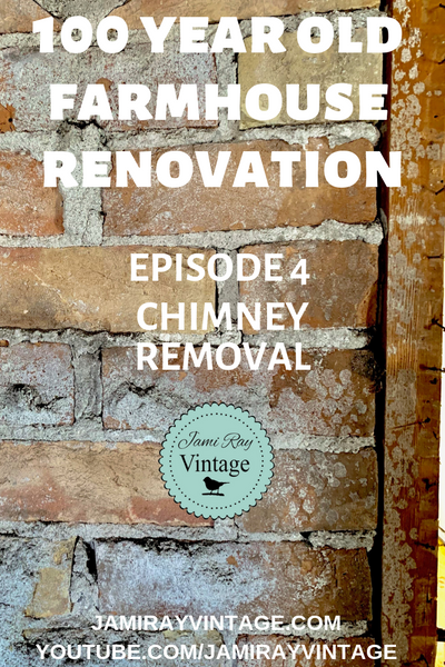 100 Year Old Farmhouse Demo Episode 4 | Chimney Removal