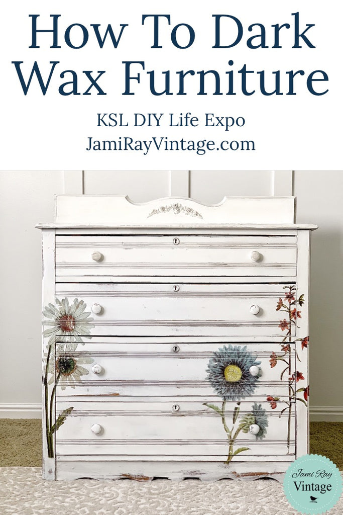 How To Dark Wax Furniture | KSL DIY Life Expo | YouTube Video