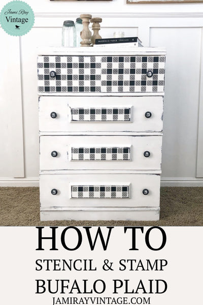 Buffalo Plaid | How To Stencil & Stamp
