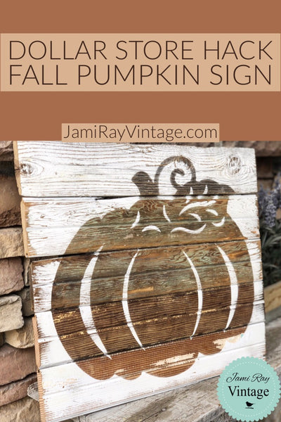 Dollar Store Fall Pumpkin Sign | YouTube Video