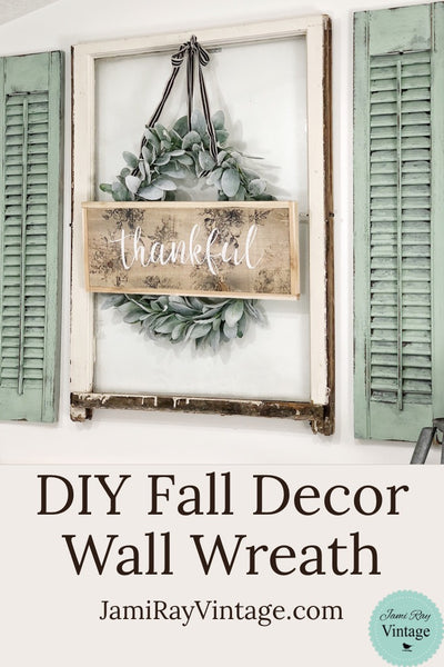 DIY Fall Decor Wall Wreath | YouTube Video