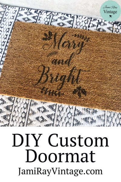 Custom Door Mat | Christmas Stencil