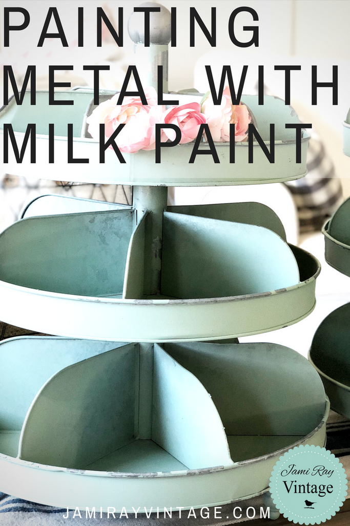 Painting Metal With Milk Paint | YouTube Video