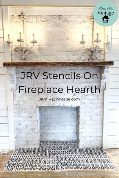 Using JRV Stencils On Fireplace Hearth