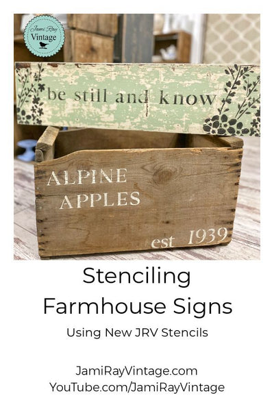 Stenciling Farmhouse Signs | New JRV Stencils